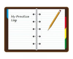 A practice log can be like a journal or it can be a series of lists.